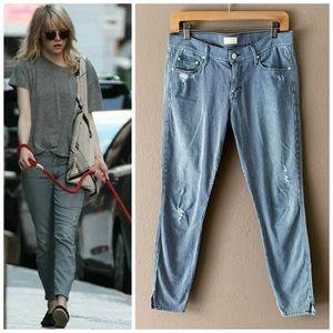 Revolve Mother The Vamp Skinny Ankle Stripe Jeans